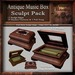 Antique Music Box Sculpt Pack, Sculpted Holiday Musical Box With Christmas Song, 12 Sculpty Maps & 26 Textures Full Perm