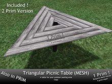 Triangular Picnic Table (MESH)