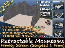 333 - Retractable Mountains - Sculpted Privacy Screen (ONE PRIM)