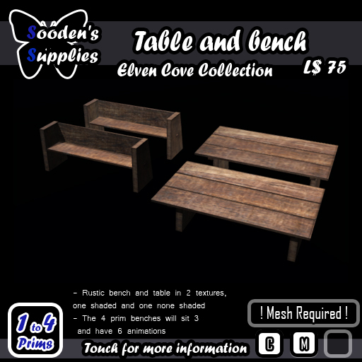 Table and bench