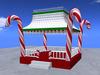RE Candy Cane Gazebo - Christmas Decoration