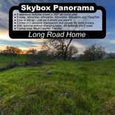 Panoramic Skybox Privacy Screens - Long Road Home