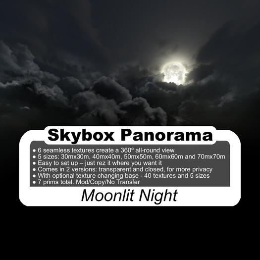 Panoramic Skybox Privacy Screens - Moonlit Night
