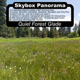 Panoramic Skybox Privacy Screens - Quiet Forest Glade