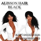 "EdelStore woman hair "" Alisson "" black 2in1 Hair + Animation girl hair female hair long hair Zopf BRAND NEW in SL"