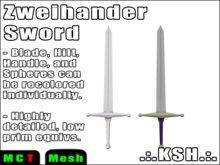 [100% Mesh] *KSH* Zweihander Two-handed Renaisance Sword