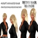 """EdelStore women hair """" Betsy """" blonde 2in1 + animation NEW ponytail girl hair female long straight hair moving NEW NEW"""