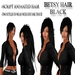 "Woman hair "" Betsy "" black 2 in1 + animation woman hair girl hair 2in1 hair ponyatail animation next generation of hair"