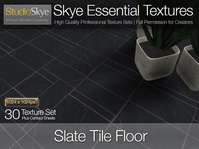 Slate  Floor Tiles - Skye Essential - 30 Full Perms Textures