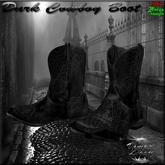 Vampire Legacy - Dark Cowboy Boot,vampire,dark,goth,biker,steampunk.