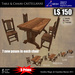 LOW PRIM - Table & Chairs CASTELLANA [G&S]
