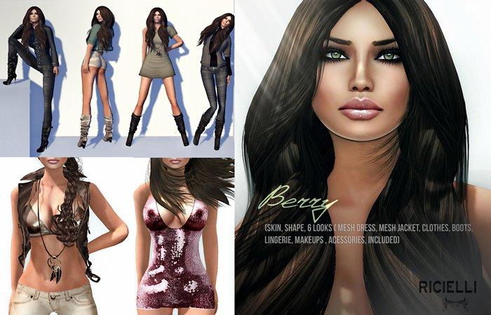 R.icielli - BERRY (Skins , Shape, 6 looks, Mesh Dress, Mesh Jacket, Clothes, Boots, Bikini, lingerie)24 HRS PROMOTION!!