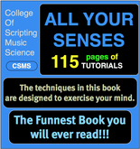 College of Scripting Music and Science - ALL YOUR SENSES BOOK