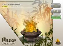 .:Muse Creations:. Zen Fire bowl