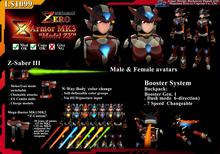 "ZZ3- Megaman Zero Armor MK3 ""model ZX"" (boxed)"