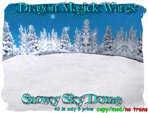 Dragon Magick Wares Snowy Sky Dome Animated Sky Snow UPDATED
