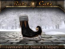 .:[ RatzCatz ]:. Iceskate Shoes for Santa's Helpers - black