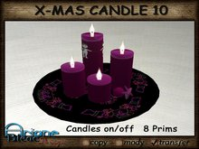Christmax Xmas Advent Candle Nr.10 purple