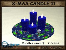 Christmax Xmas Advent Candle Nr.11 blue