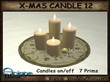 Christmax Xmas Advent Candle Nr.12 gold