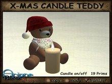 Christmax Xmas Advent Candle Teddy Nr.2