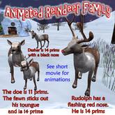 Animated Reindeer family. A Christmas celebration!