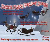 Santa's Flying Reindeer sleigh