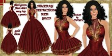 Holiday Seduction Christmas FREE GIFT freebie formal gown flexi red gold 2009  (valentine) gift NEW