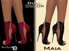 """Maia Lace Heels """"Crimson"""" with free skin toner from purrfect 10"""