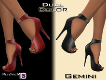 """Gemini Leather Heels """"Crimson"""" with free skin toner from purrfect 10"""