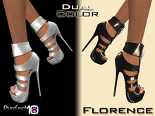"""Florence Autumn Heels """"Silver"""" with free skin toner from purrfect 10"""