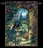 Accent Secret Garden Peacock Tapestry