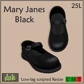 Duh Mary Janes Black