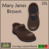 Duh Mary Janes Brown