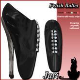 JariCat Fetish Ballet Shoes with walksound - Black