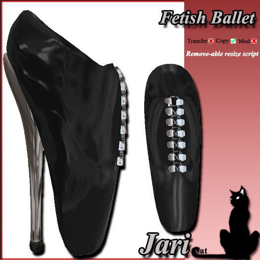 JariCat Fetish Ballet Shoes - Black