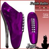 JariCat Fetish Ballet Shoes with walksound - Purple