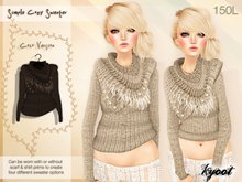 Kyoot - Simple Cozy Sweater (Coco)