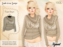 Kyoot - Simple Cozy Sweater (Taupe)