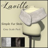 ! Laville ! Simple Fur Stole - Grey Scale Pack