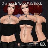 [ SAKIDE ] Diamond Wool Pulls Black