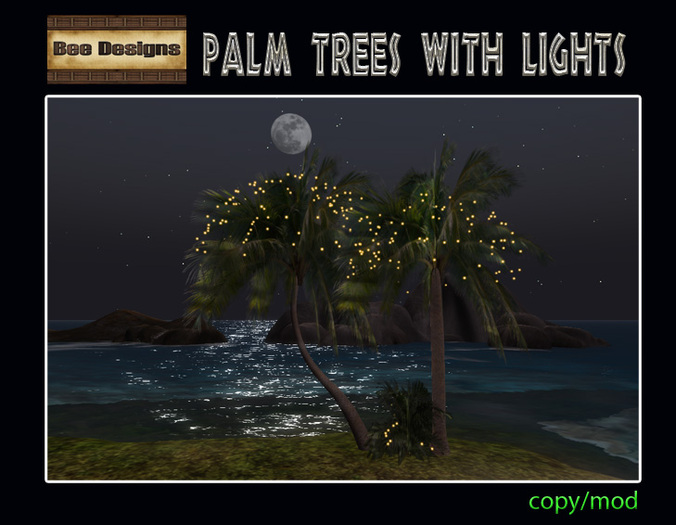 60%OFF!Palm Trees with lights-box