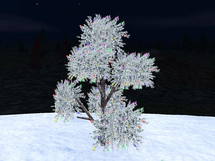 Blinking 3D iced tree for Christmas