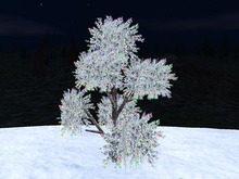 Blinking 3D iced tree for Christmas