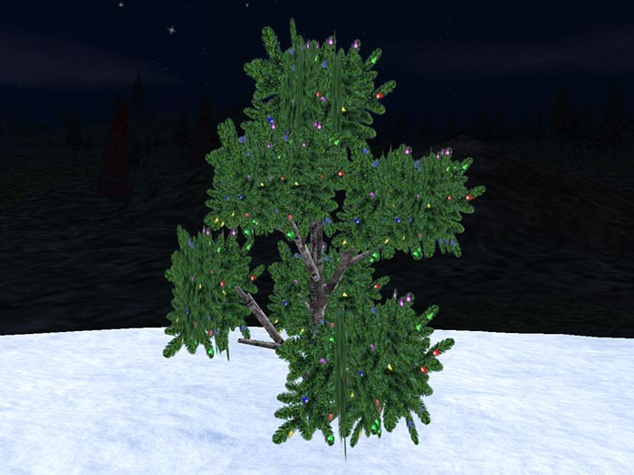 Blinking 3D firtree for Christmas