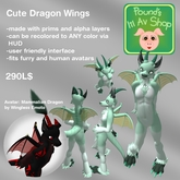 Cute Furry Dragon Wings