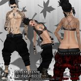 [NV] BADASS BAGGY -Punk black-