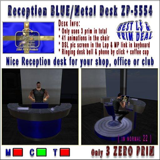 Modern Reception desk C Blue ZP-5554