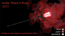 Gothic Wand of Roses