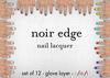 [croire] Noir Edge Nail Lacquer Set (12 nail polishes, manicure glove layers)